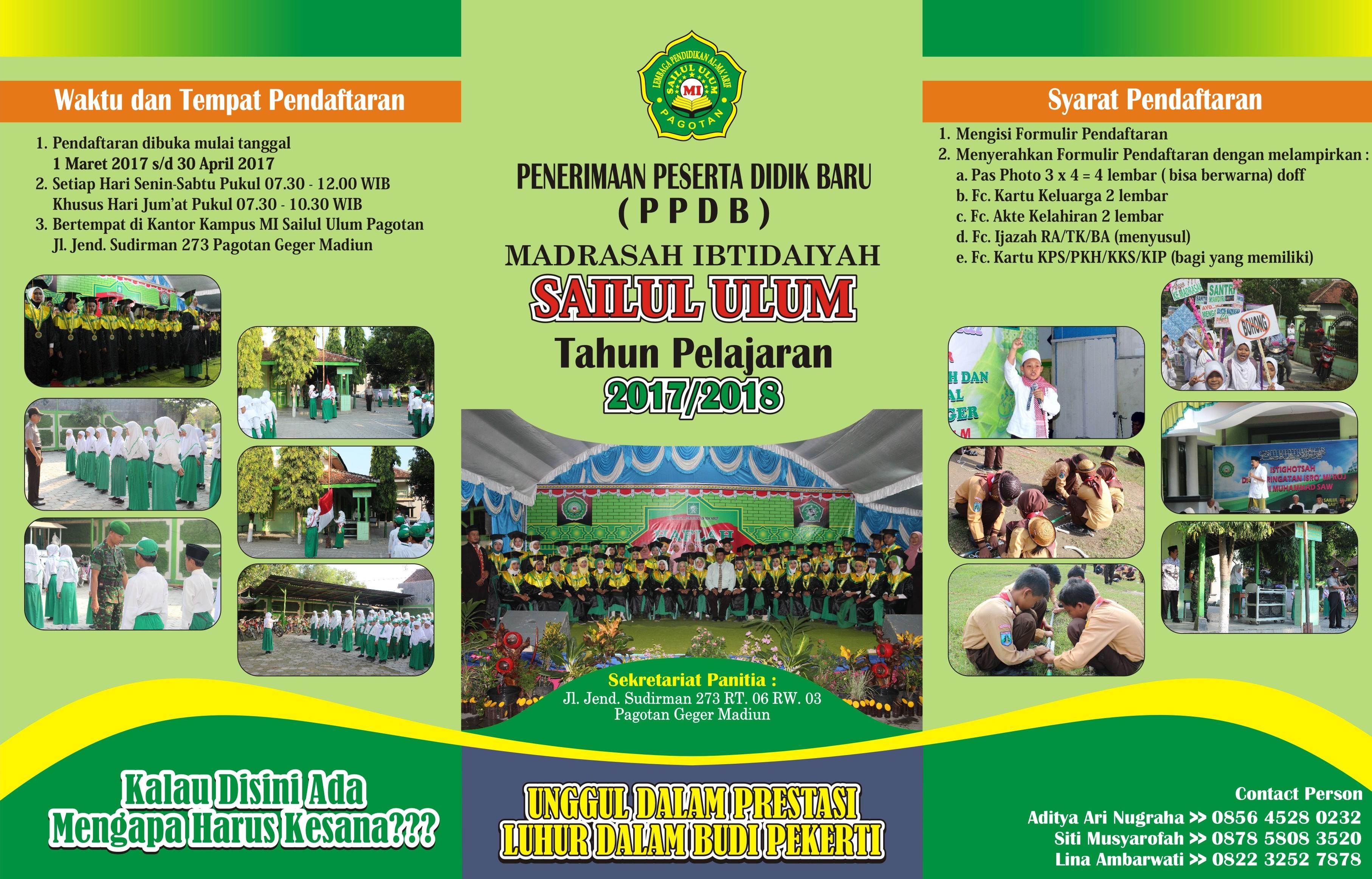 Brosur 2017 2018 Mi Sailul Ulum Pagotan